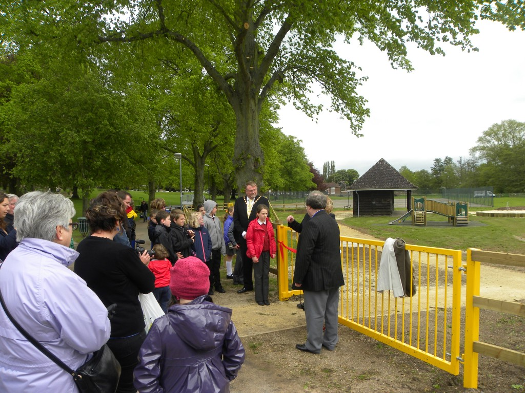 The opening of the Play Area, May 2013