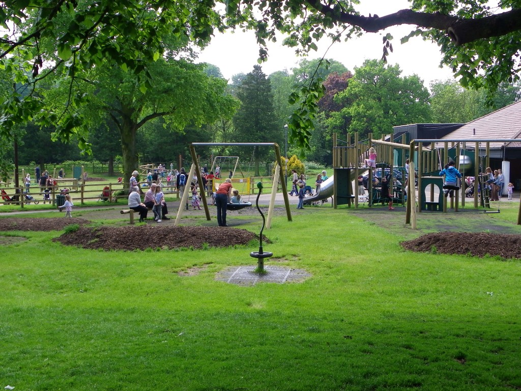 A view of the two play areas