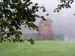 October: Abbey wall in the mist Photo courtesy of Jim Dunlop