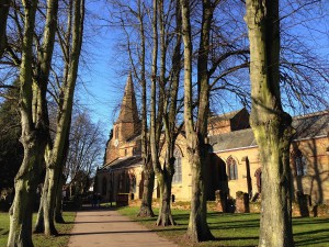 February: Lime avenue to St. Nicholas Church. Photo courtesy of Susan Tall