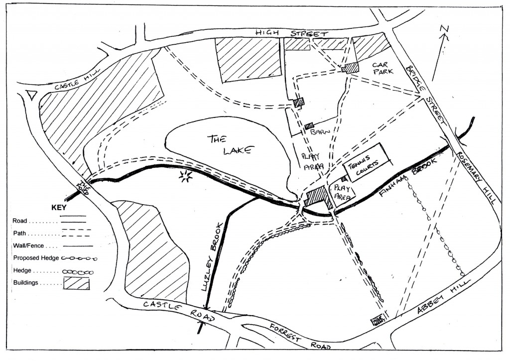 Map showing the location of the proposed hedge