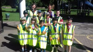 June 2017: 5th Kenilworth St John's Beavers, led by Jo Cox and Rupa Davidson joined our monthly Litter Pick