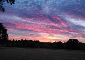 Cover - Mackerel Sky over Abbey Fields by Sam Sexton